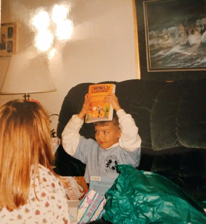 Alex as a Young and Joyful Reader.